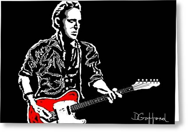 Bruce Springsteen Paintings Greeting Cards - Bruce Springsteen Greeting Card by Dave Gafford