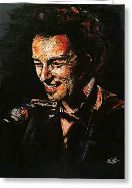 E Street Band Greeting Cards - Bruce Springsteen Greeting Card by Melissa O