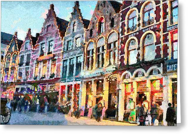 Caruso Greeting Cards - Brugge Greeting Card by Anthony Caruso