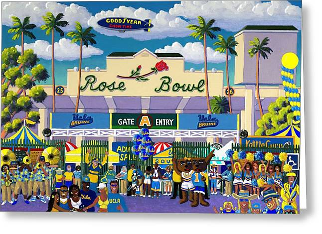 College Football Greeting Cards - Bruinville Greeting Card by Frank Strasser