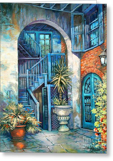 Louisiana Greeting Cards - Brulatour Courtyard Greeting Card by Dianne Parks
