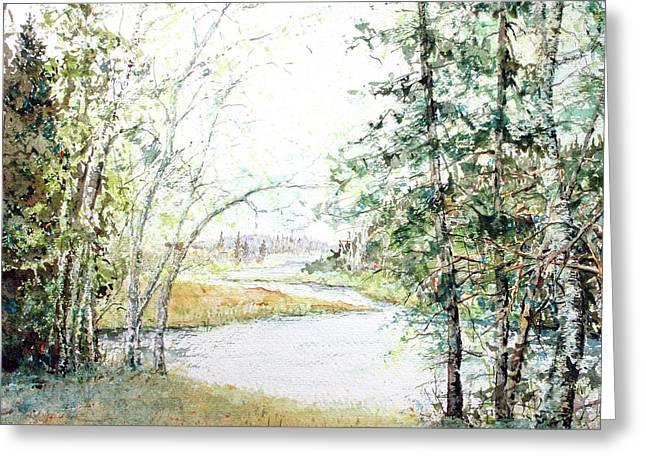 Brule River Greeting Card by Ken Marsden