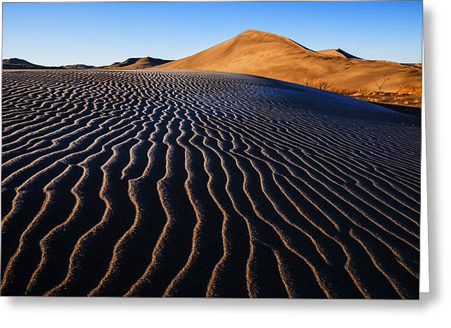 Sand Pattern Greeting Cards - Bruneau Dunes State Park Idaho USA Greeting Card by Vishwanath Bhat