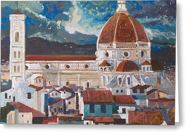 Michelangelo Greeting Cards - Brunelleschis Dome Greeting Card by Micheal Jones