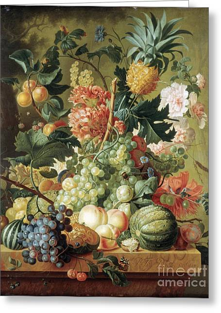 Brussel Greeting Cards - Brussel Fruits 1789 Greeting Card by Granger