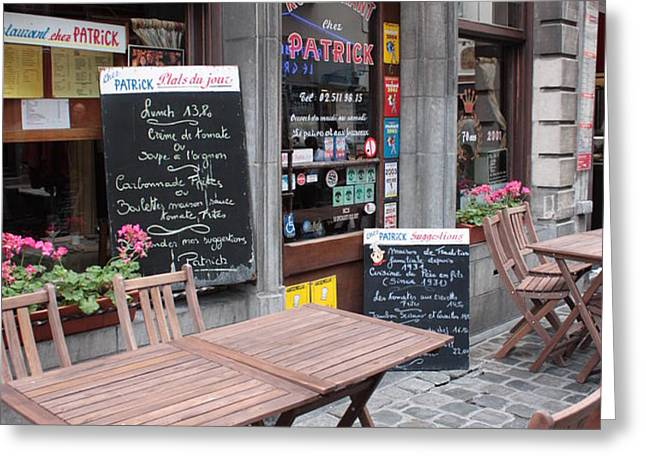 Brussels - Restaurant Chez Patrick Greeting Card by Carol Groenen