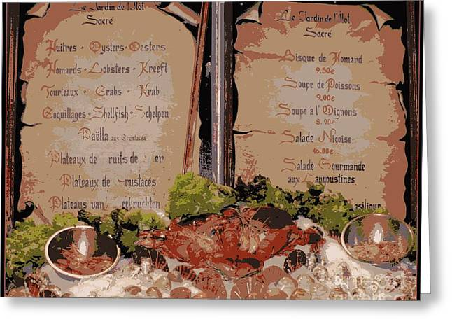 Brussels Menu - Digital Greeting Card by Carol Groenen