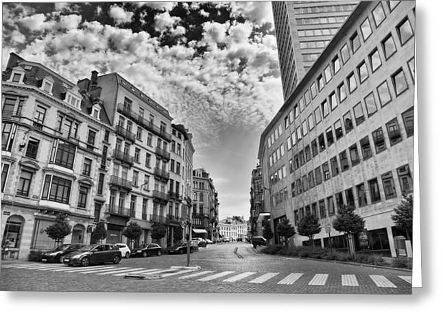 Bruxelles Greeting Cards - Brussels Old and New Greeting Card by Nomad Art And  Design