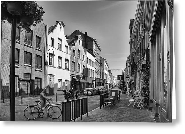 Bruxelles Greeting Cards - Brussels Street Scene III Greeting Card by Nomad Art And  Design