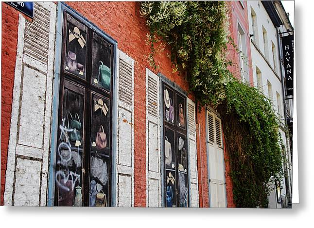 Bruxelles Greeting Cards - Brussels Wall Greeting Card by Nomad Art And  Design