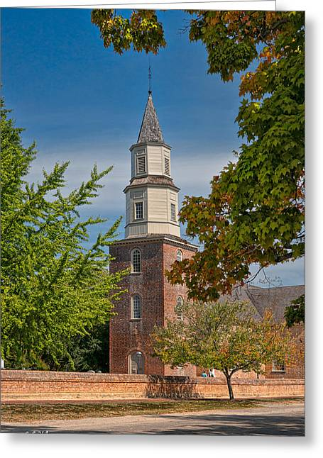 Christopher Holmes Greeting Cards - Bruton Parish Church Greeting Card by Christopher Holmes