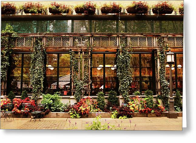 Bryant Park Grill Greeting Card by Jessica Jenney