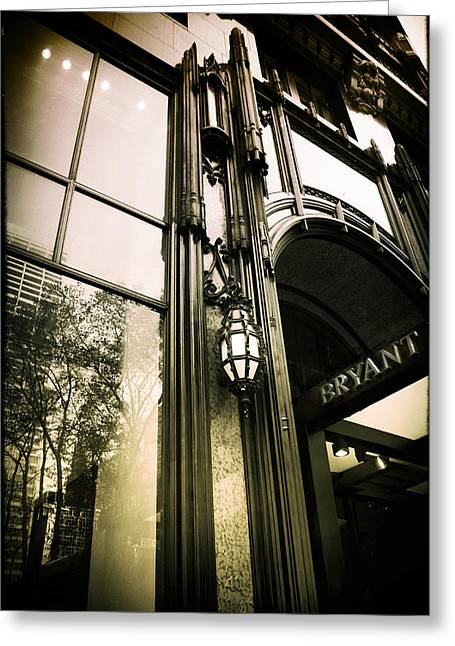 Bryant Park Hotel Greeting Card by Jessica Jenney