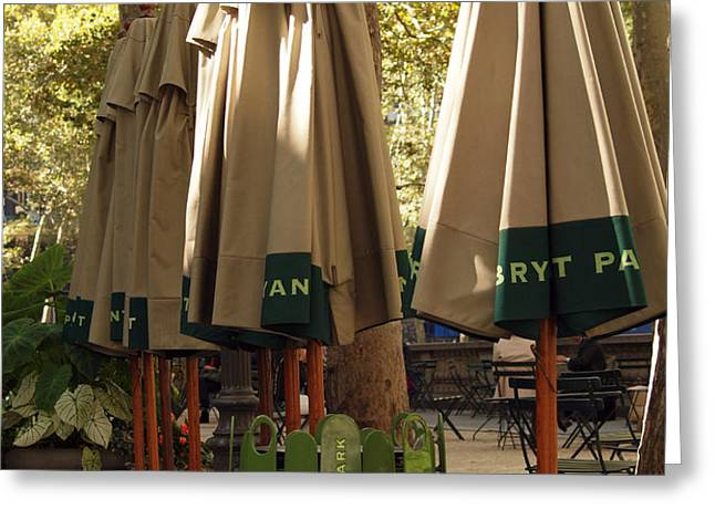 Bryant Park Greeting Card by Luis Lugo