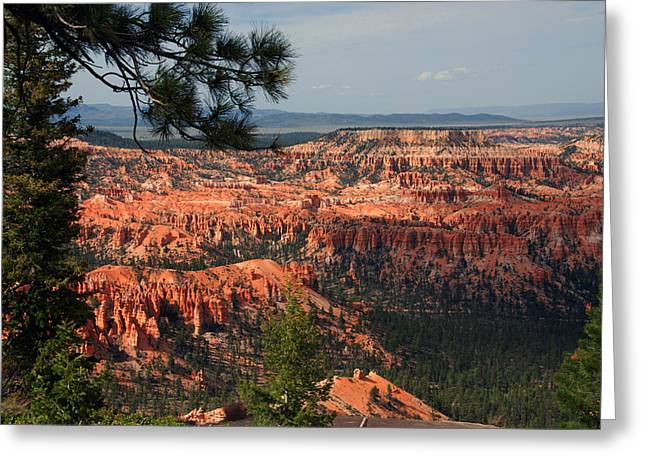 Red Greeting Cards - Bryce Canyon II Greeting Card by Susanne Van Hulst
