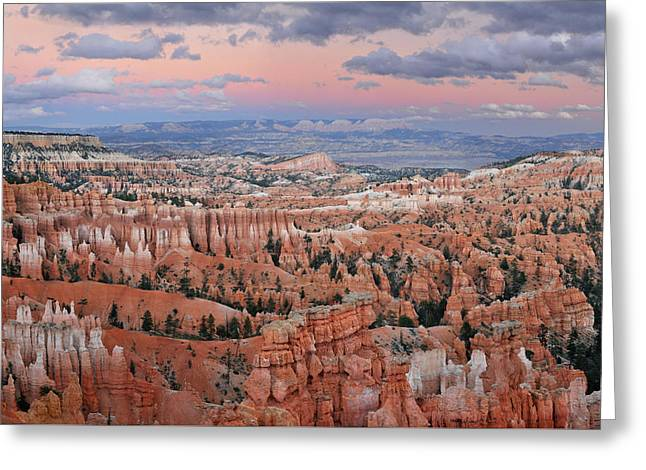 Bryce Canyon Sunset Greeting Card by Dean Hueber