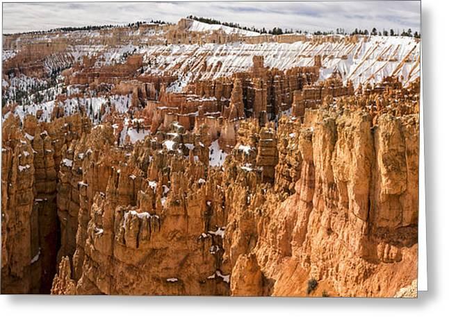 Bryce Canyon Winter Panorama - Bryce Canyon National Park - Utah Greeting Card by Brian Harig