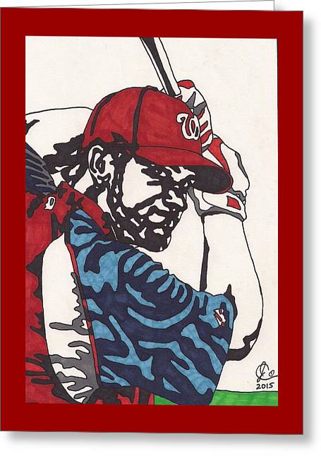 Washington Dc Baseball Greeting Cards - Bryce Harper 1 Greeting Card by Jeremiah Colley