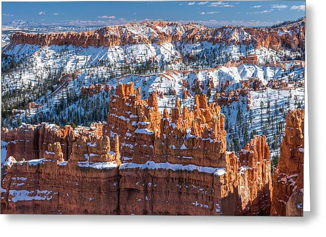 Bryce In Snow Greeting Card by Joseph Smith
