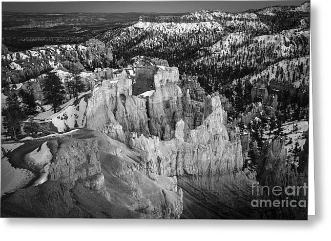 Black And White Nature Landscapes Greeting Cards - Bryce Greeting Card by Jennifer Magallon