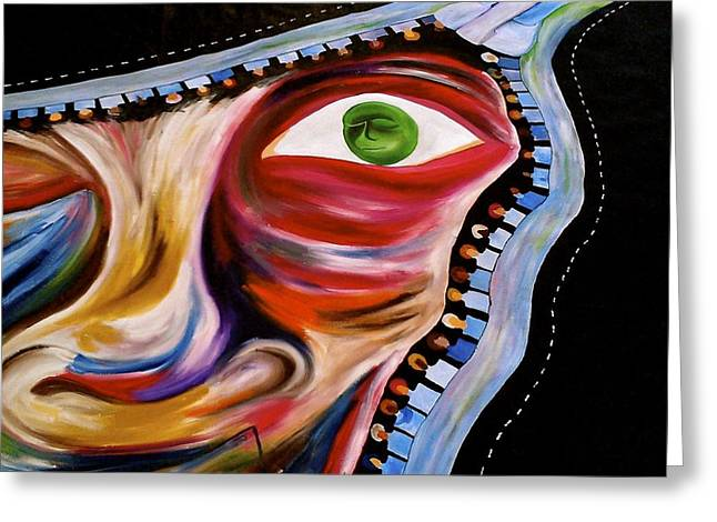Disability Paintings Greeting Cards - Bs Greeting Card by Rhonda Richmond