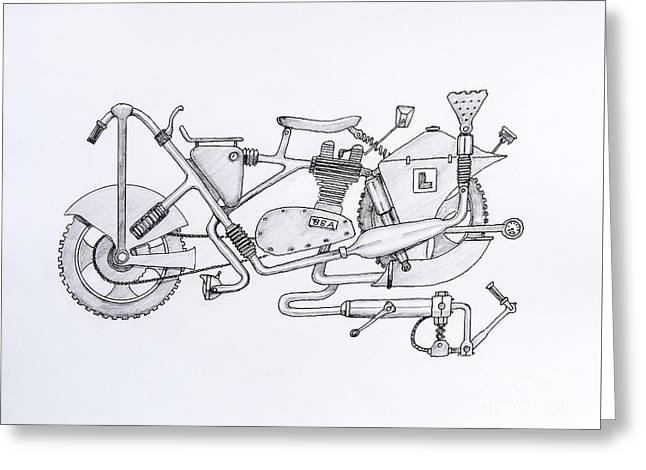 Owner Greeting Cards - B.S.A.- Bits Stuck Anywhere Greeting Card by Stephen Brooks