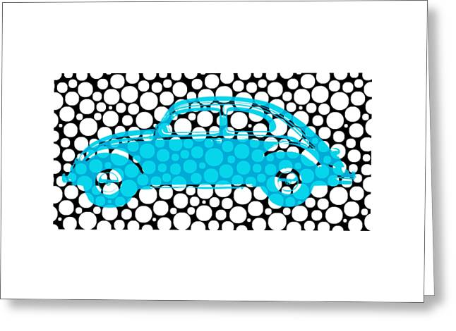 Bubble Car Vw Beetle Greeting Card by Edward Fielding
