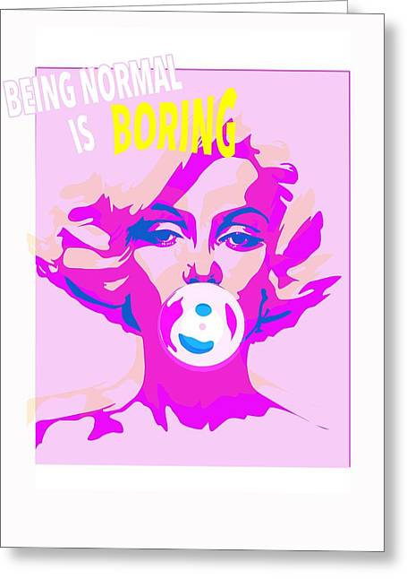 Seductress Greeting Cards - Bubble Gum Greeting Card by Francois Domain