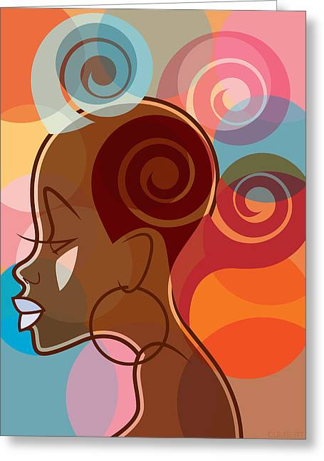 Dread Locks Greeting Cards - Bubble Gum Lox Greeting Card by Michael Colbert