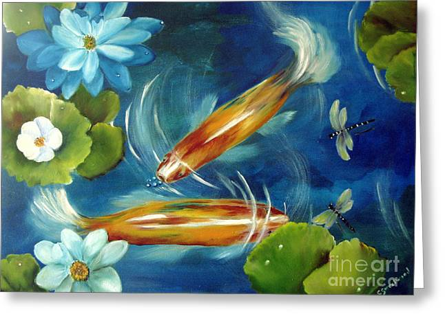 Bubble Maker Greeting Card by Carol Sweetwood