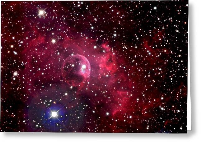 Constellations Digital Art Greeting Cards - Bubble Nebula Greeting Card by Jim DeLillo