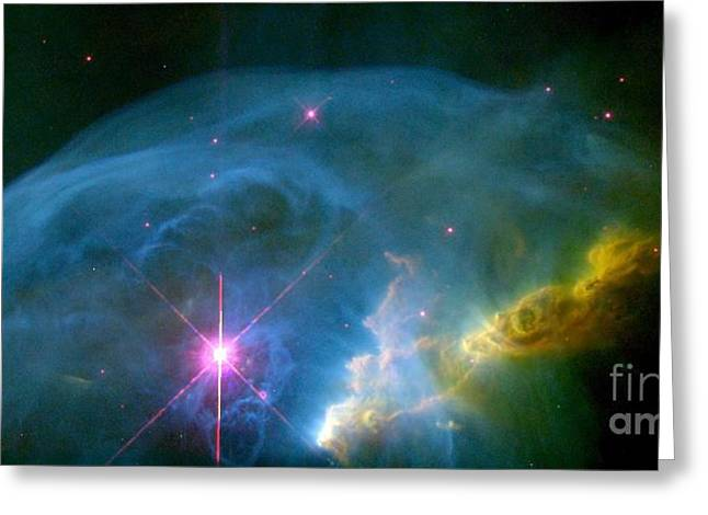 Hst Greeting Cards - Bubble Nebula Greeting Card by Nasa