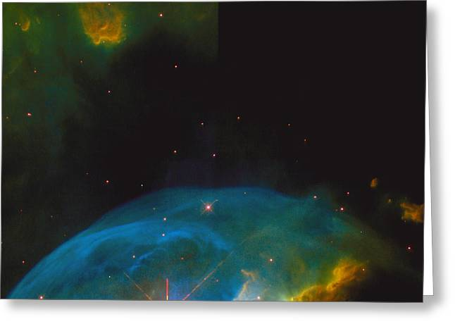 Starbirth Greeting Cards - Bubble Nebula Greeting Card by Space Telescope Science Institute / NASA