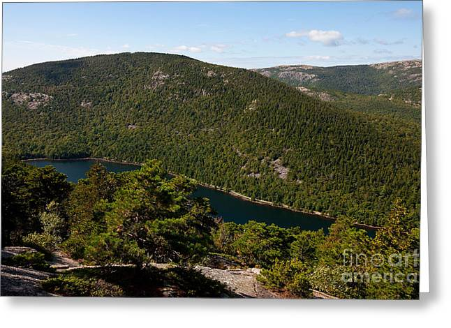 Maine Landscape Greeting Cards - Bubble Pond Acadia National Park Greeting Card by Jason O Watson