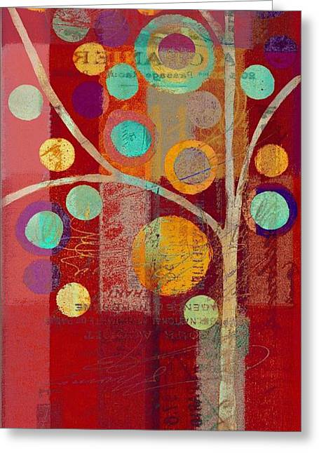 Geometric Shape Greeting Cards - Bubble Tree - 85lc13-j678888 Greeting Card by Variance Collections