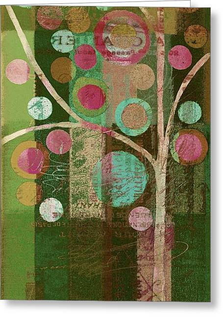 Geometric Shape Greeting Cards - Bubble Tree - 85lc16-j678888 Greeting Card by Variance Collections