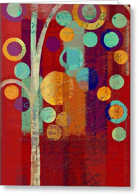 Bubble Tree - 85rc13-j678888 Greeting Card by Variance Collections