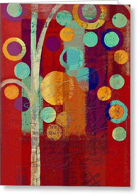 Geometric Shape Greeting Cards - Bubble Tree - 85rc13-j678888 Greeting Card by Variance Collections