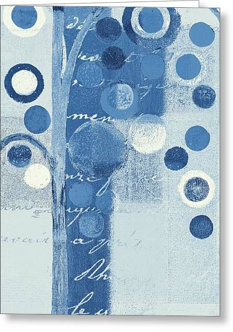 Pale Blue Greeting Cards - Bubble Tree - s290-01r - Blue Greeting Card by Variance Collections