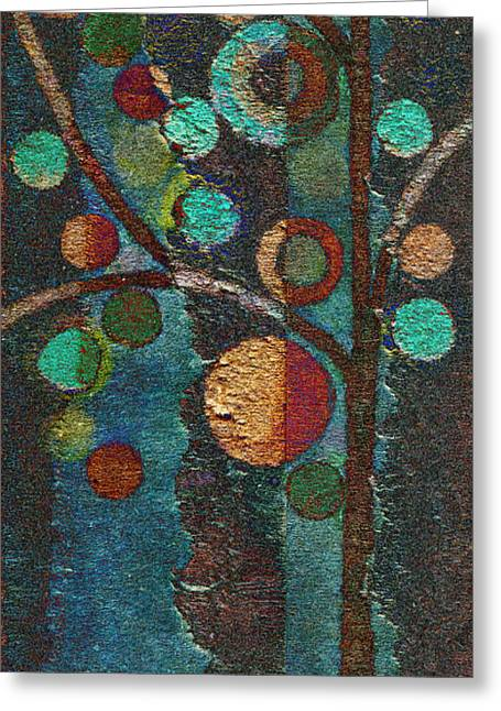 Tree Art Greeting Cards - Bubble Tree - spc02bt05 - Left Greeting Card by Variance Collections