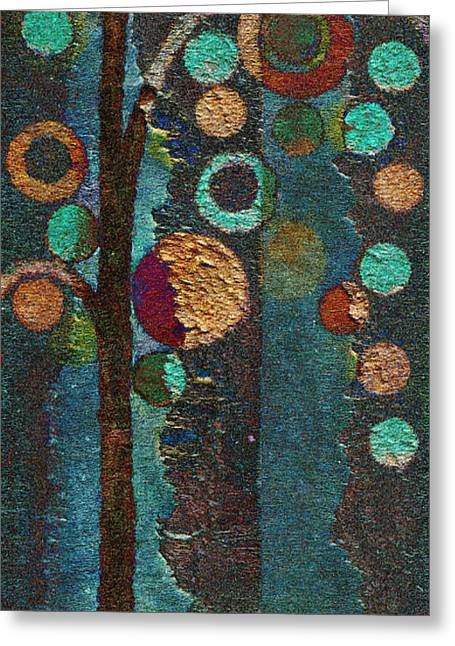 Tree Art Greeting Cards - Bubble Tree - spc02bt05 - Right Greeting Card by Variance Collections