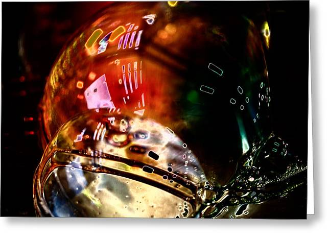 Colbalt Blue Greeting Cards - Bubbles Abstract 3 Greeting Card by David Patterson