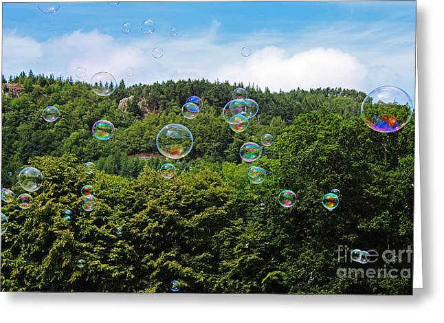 Chris Evans Greeting Cards - Bubbles Greeting Card by Chris Evans