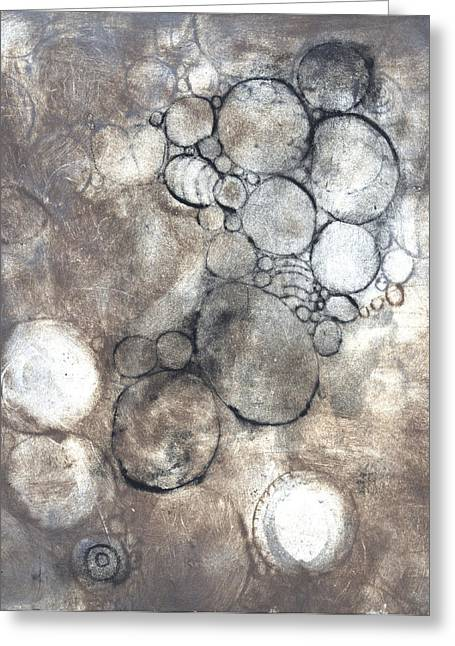Printmaking Greeting Cards - Bubbles Greeting Card by Rockstar Artworks