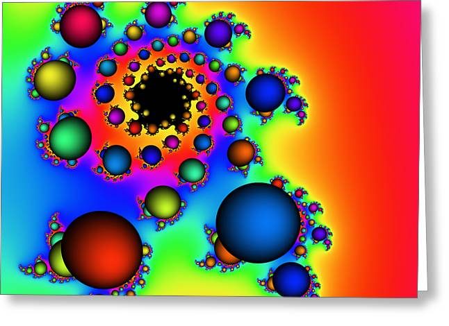 Bubbles Three Greeting Card by Rolf Bertram