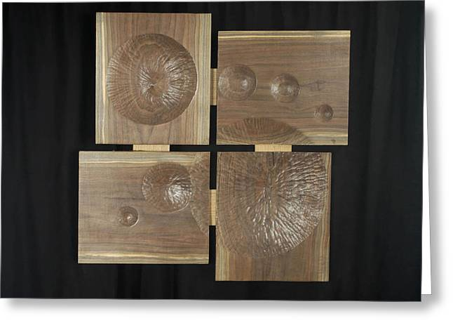 Abstract Geometric Reliefs Greeting Cards - Bubbles Greeting Card by William Lowrey