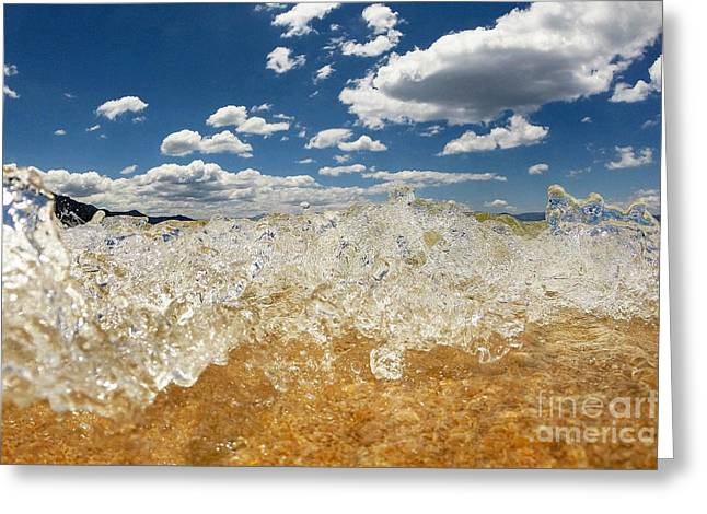 Cold Water Greeting Cards - Bubbling Greeting Card by Dan Holm