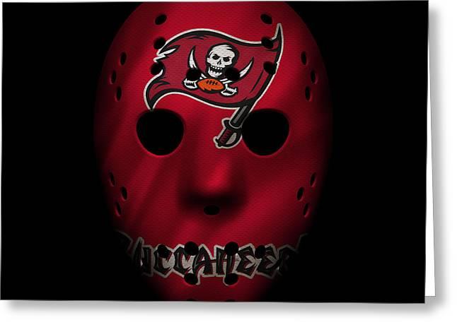 Buccaneer Greeting Cards - Buccaneers War Mask 3 Greeting Card by Joe Hamilton