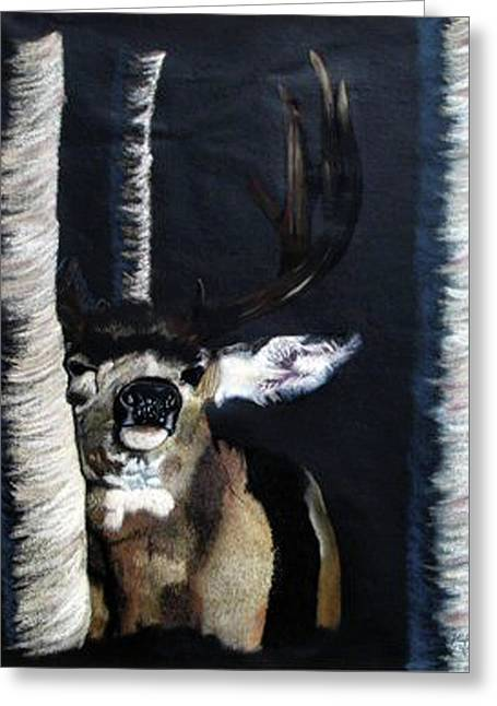 Graphite Pastels Greeting Cards - Buck Greeting Card by Mayhem Mediums