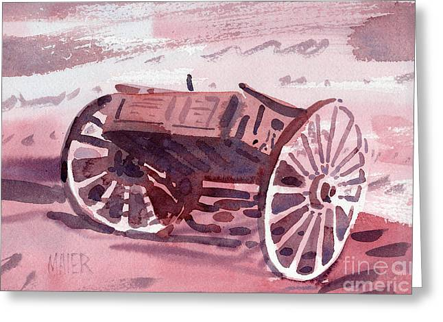 Buckboard Greeting Card by Donald Maier